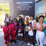 The godchildren with their families and us on Table Mountain