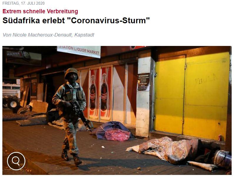 Corona-Virus Sturm in Südafrika