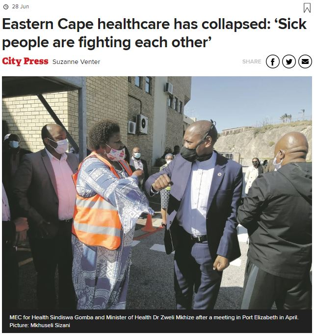 Eastern Cape healthcare has collapsed